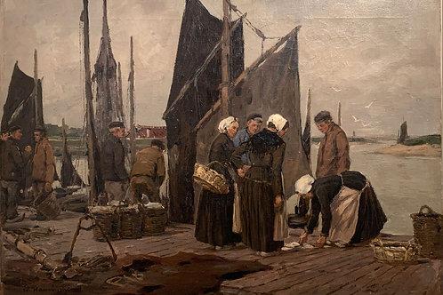 Retour de Pêche- Wilhelm Hambüchen (1869-1939)