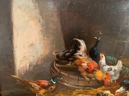 La Basse-Cour - Claude Guilleminet (1821-1885)