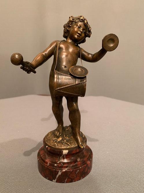 Bronze d'Auguste MOREAU (1834-1917) Enfant Musicien.