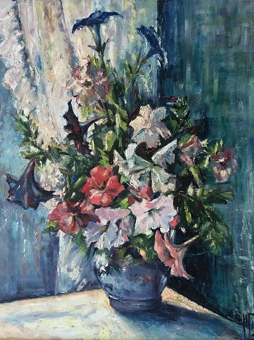 """""""Huile Sur Toile « Bouquet De Fleurs »"""""""