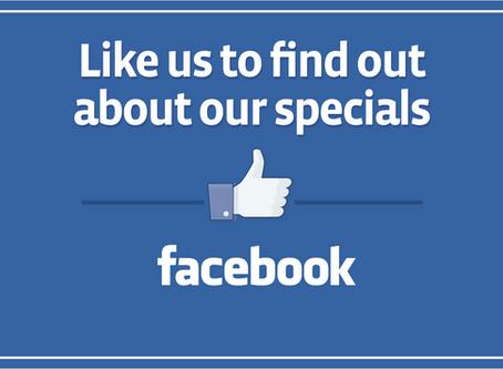 Face Book Specials