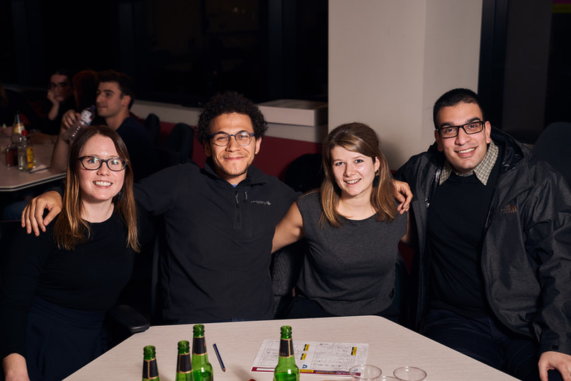 Students at the MNC Trivia Night