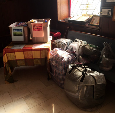 Donations of personal items for the men and women of Teen Challenge.  From The Church of Philadelphia.