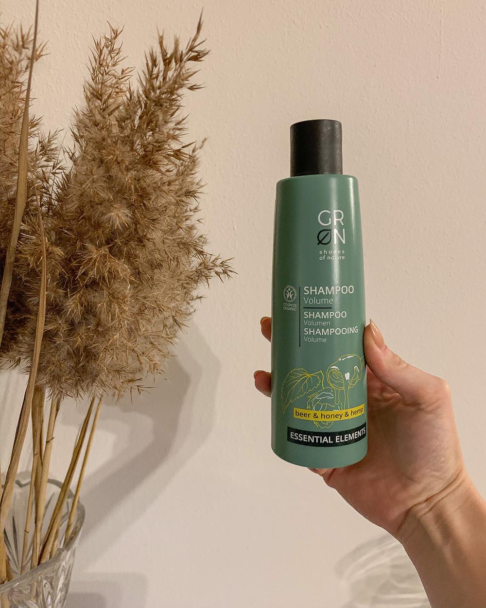 Šampon pro objem Essential od značky GRN z MilujuBIO