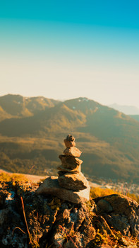 Stacked Rocks on Mt. Roberts