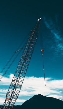 Crane in Skagway, Alaska