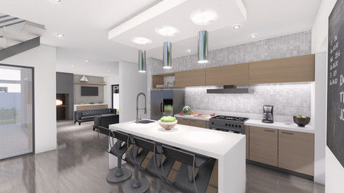 Kitchen to Braai - Architectural Rendering