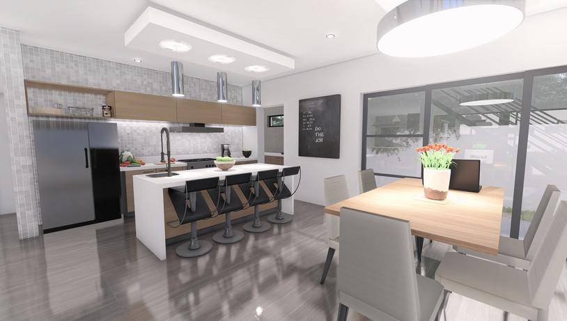 Kitchen & Dining - Architectural Rendering