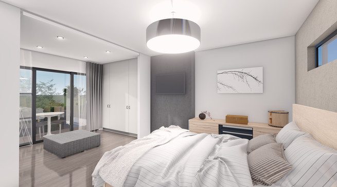 Master Bedroom - Architectural Rendering
