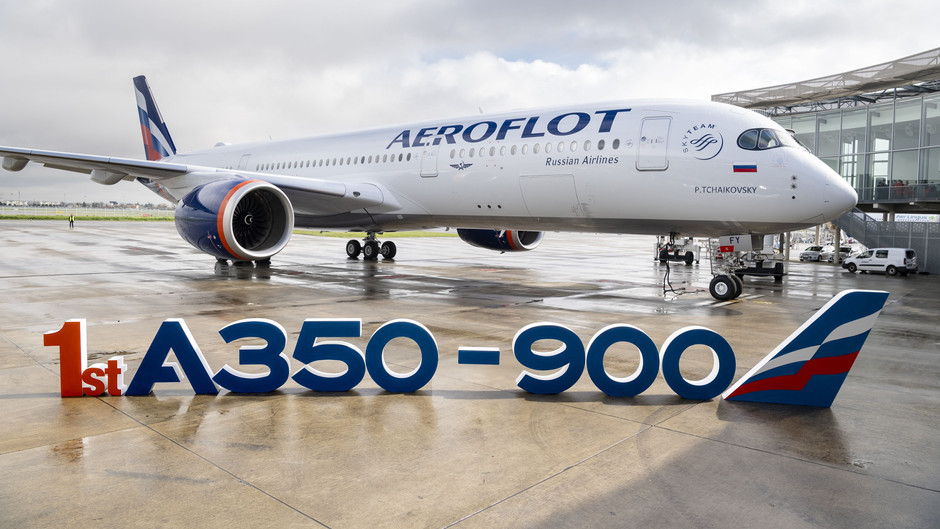 AEROFLOT's takes delivery of its FIRST a350-900