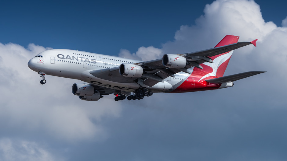 QANTAS PLANS GROUNDING of 8 A380s, reduces flights by nearly 25%