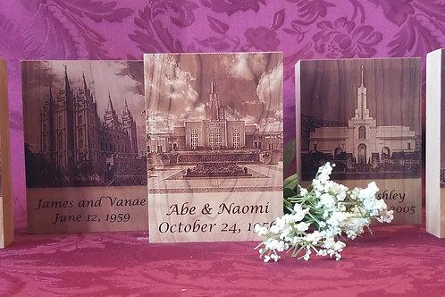 Temple Photo plaque