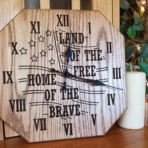 """12"""" Patriotic clock"""