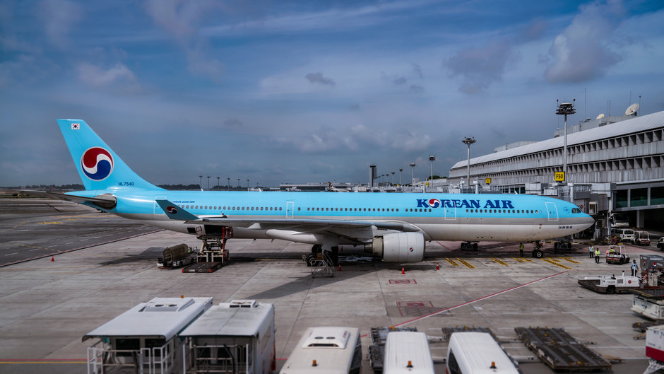 KOREAN AIR suspends flights to singapore, grounds all a380s