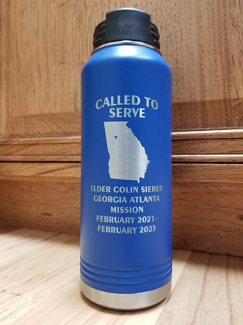 LDS Missionary 32 ounce Water Bottle