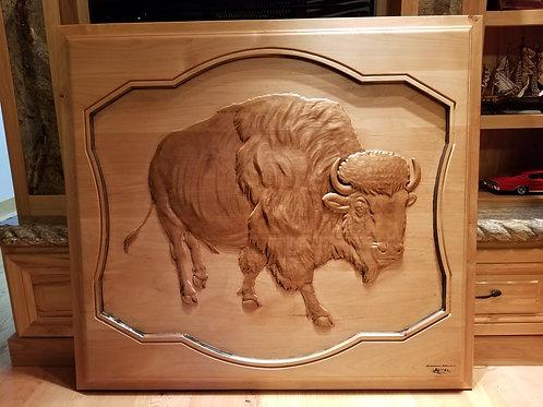 Large Bison Plaque