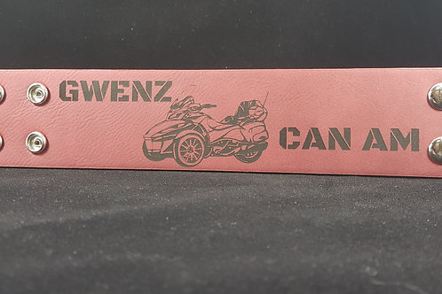 Can Am Spyder Faux Leather Wristband