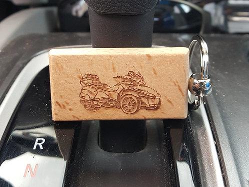 Motorbike Wooden Keychain
