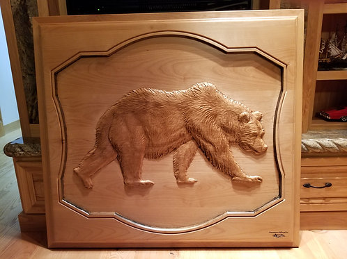 Large Grizzly Bear Plaque