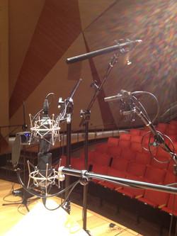 Sampling microphone set-up