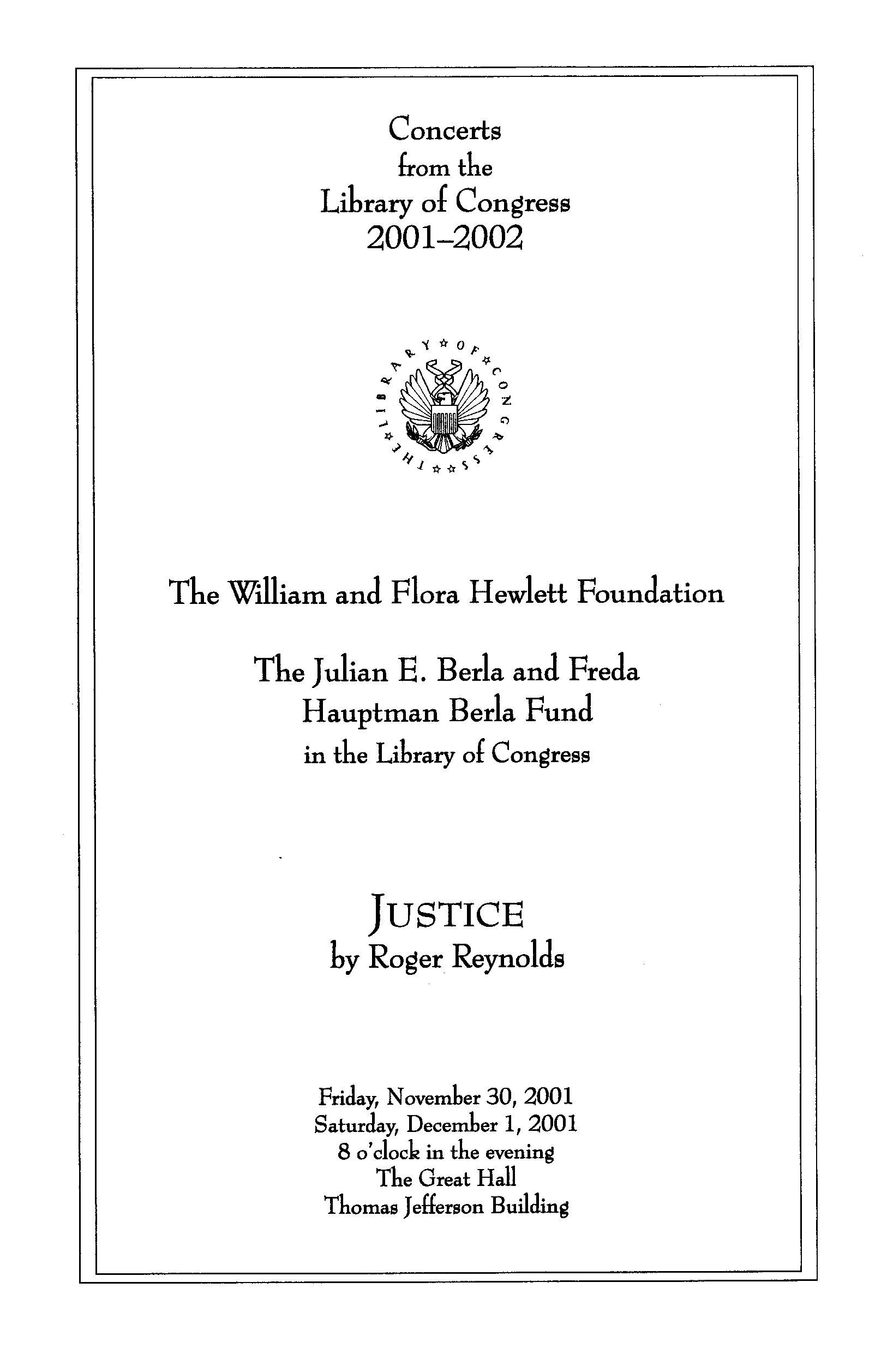 2001 Justice