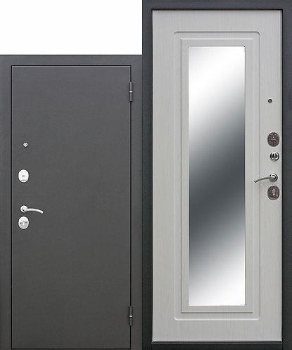 Царское зеркало Муар Белый ясень, входная дверь.