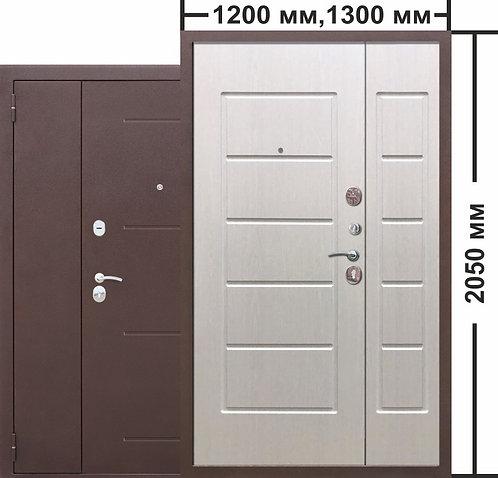 7,5 Гарда Белый ясень 1200мм. двустворчатая входная дверь