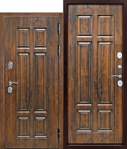 13 см Isoterma МДФ/МДФ Грецкий орех Входная морозостойкая дверь c ТЕРМОРАЗРЫВОМ