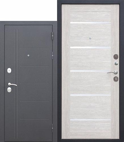 10 см. Троя Муар Лиственница беж, дверь входная.