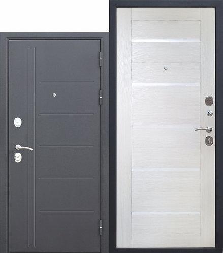 10 см. Троя Серебро Лиственница беж, дверь входная.