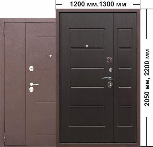 7,5 Гарда 1300мм. Венге двустворчатая входная дверь