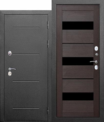 11 см Isoterma СЕРЕБРО Темный кипарис Входная морозостойкая дверь c ТЕРМОРАЗРЫВО