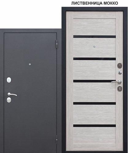 Входная металлическая дверь Гарда МУАР ЦАРГА 22 мм Лиственница мокко
