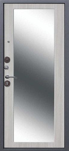 Дверь мет. 10 см Троя Серебро MAXI зеркало Дуб сонома