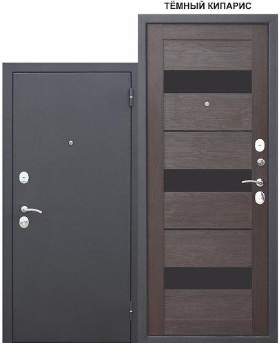 Входная металлическая дверь Гарда МУАР ЦАРГА 22 мм Темный кипарис