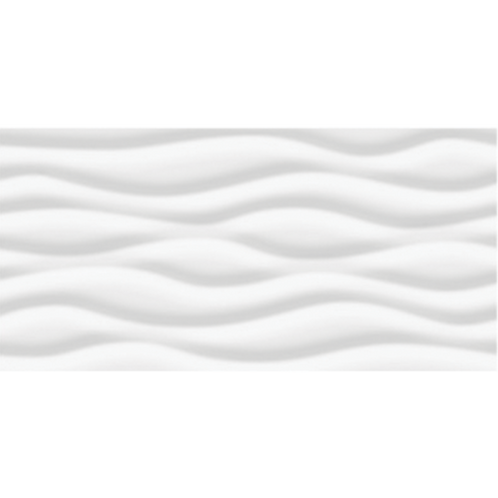 Wave White Wall