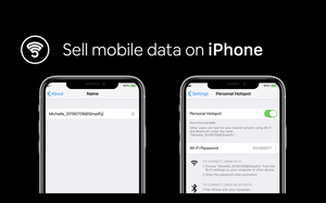 Now you can excess sell mobile data on iPhone