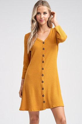 Anna Waffle Knit Dress