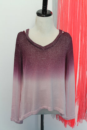 Dip-Dye Long Sleeve knit