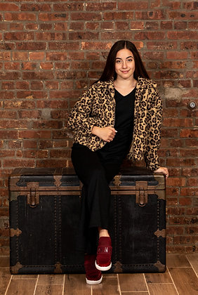 Leopard Jacket With Side Pockets