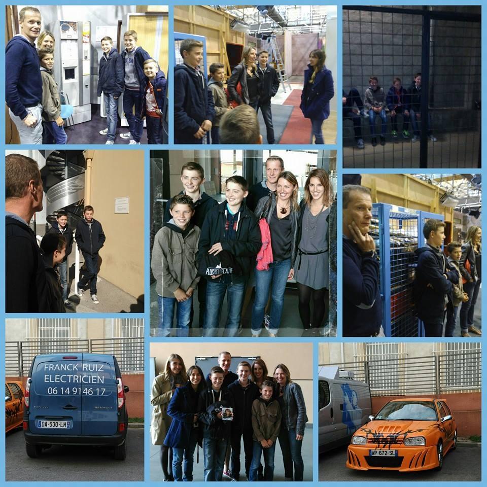 Visite des studios de Plus Belle la Vie_avec la famille de Tom