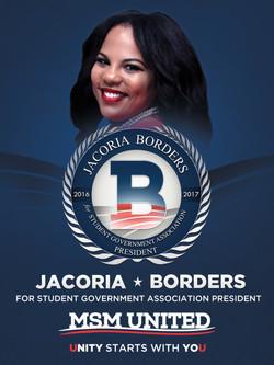 Jacoria Borders Campaign Poster