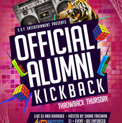 Thursday - Official Alumni Kickback Part