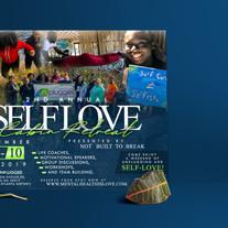 Self Love Retreat Flyer Design - Mockup.
