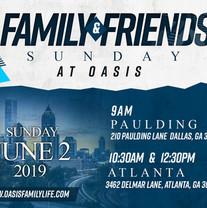 Friends and Family Sunday Flyer Design V
