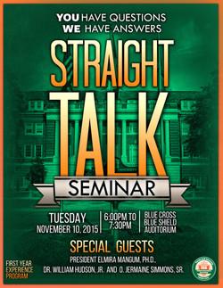 Straight Talk Seminar