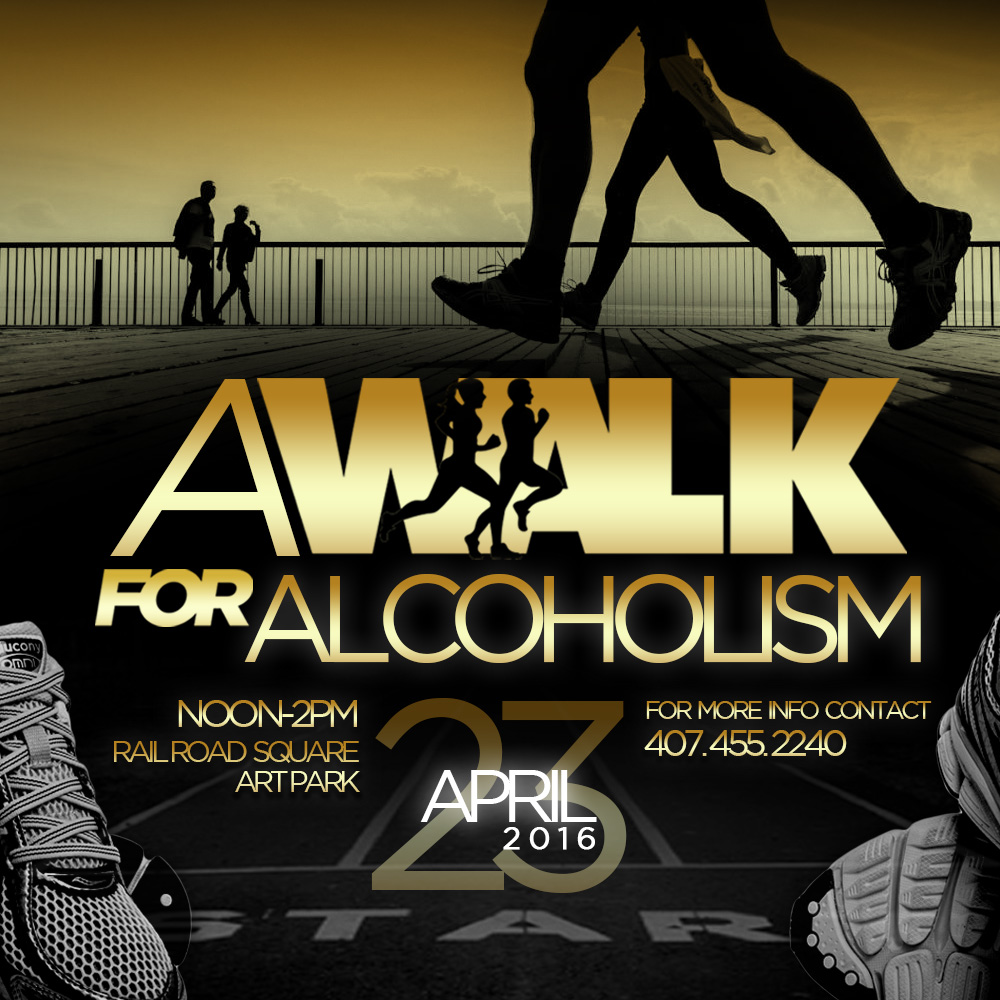A Walk For Alcoholism Ad