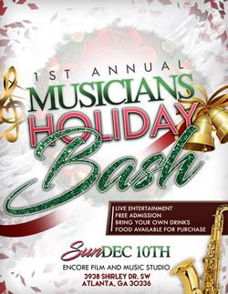 V2 1st Annual Musicians Holiday BASH Flyer Design