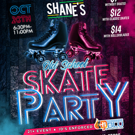 Sunday Night Old School Skate Party Flye