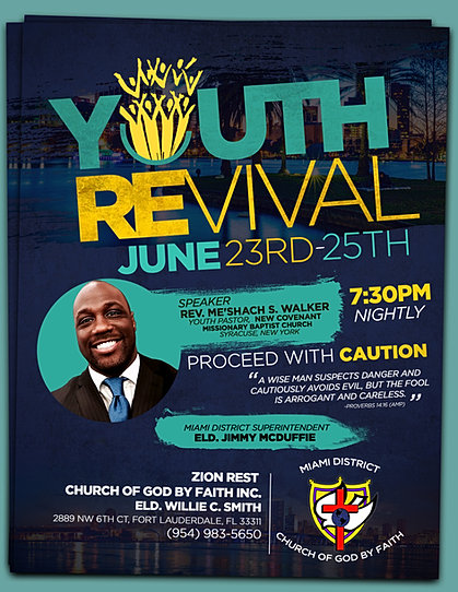 youth revival flyer